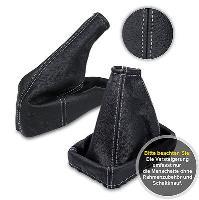 Schaltsack 98-09 Leder Handbremssack GRAUE FADEN passend für OPEL ASTRA G Bj