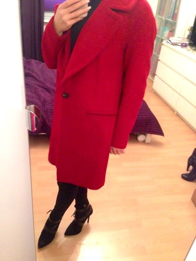 100% Zufriedenheitsgarantie bestbewertet großes Sortiment Zara Mantel Rot gebraucht kaufen! Nur 4 St. bis -65% günstiger