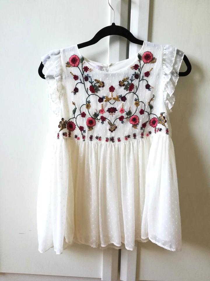 Zara Weißes Kleid
