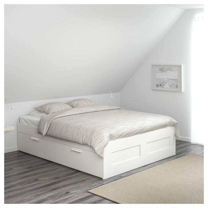 Ikea Brimnes Bett 140x200 Weiss Zuhause