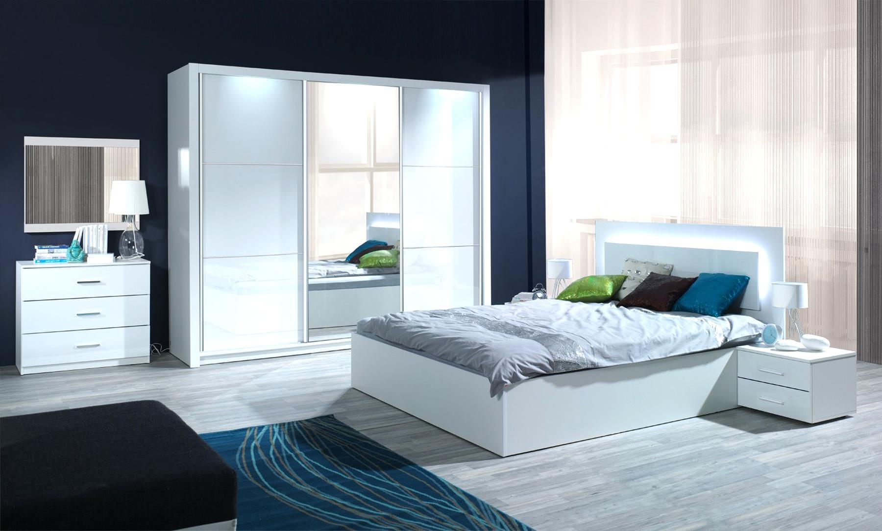 Schlafzimmer Weiss Hochglanz gebraucht kaufen! Nur 2 St. bis ...