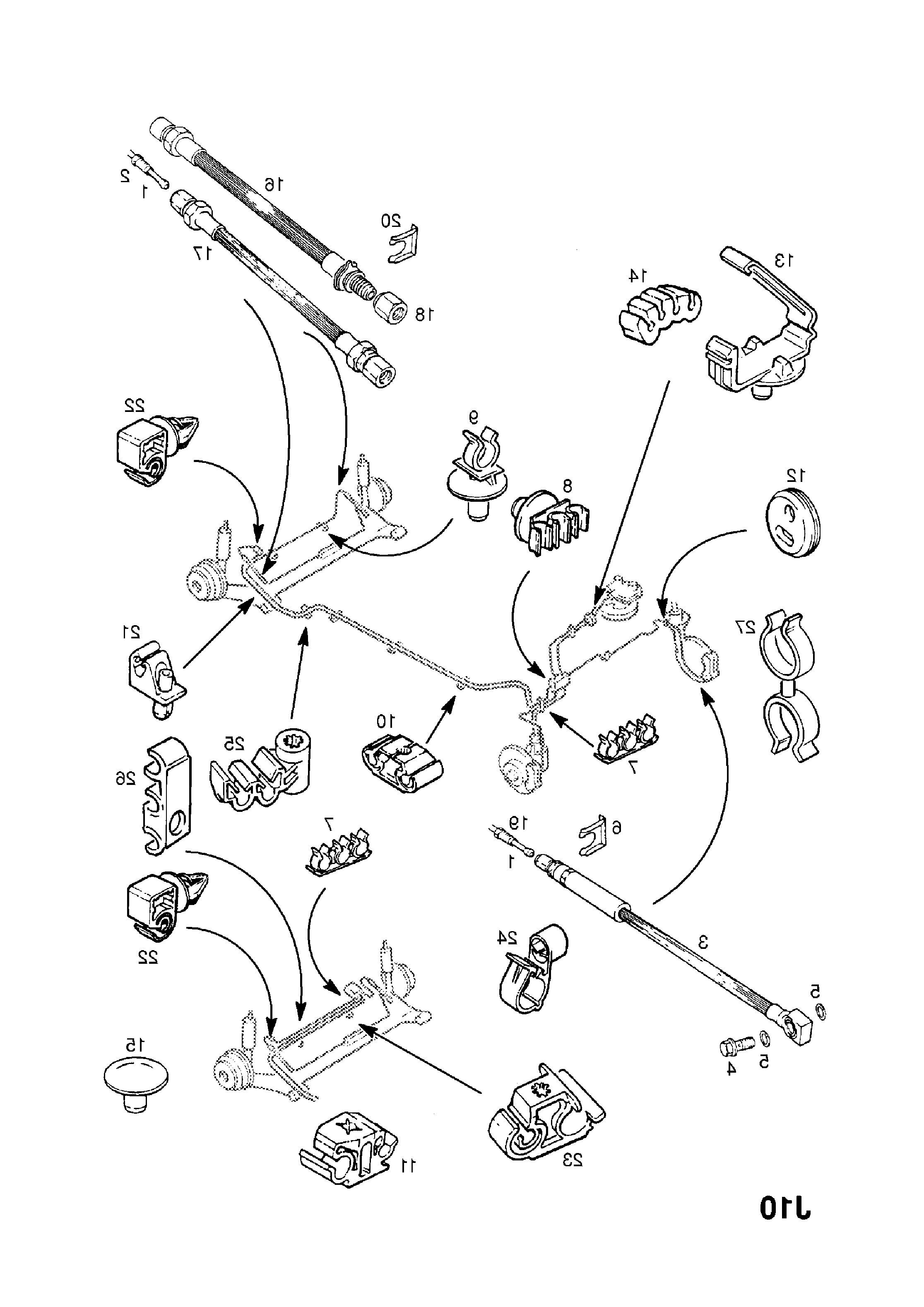 Bremsleitungen Opel Astra G Caravan mit ABS Bremstrommeln hinten Satz