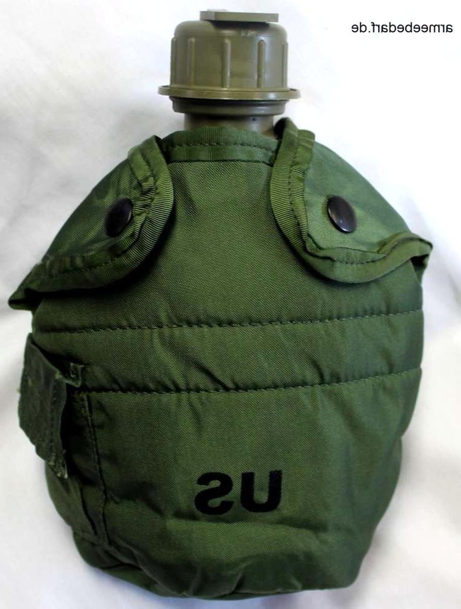 ORIGINAL US ARMY FELDFLASCHE MIT HÜLLE /& TRAGEGURT OUTDOOR TRINKFLASCHE FLASCHE