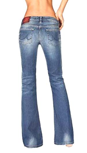LTB Flare Jeans Cristia Schlaghose Low Rise Denim Stretch Schwarz Bootcut L30