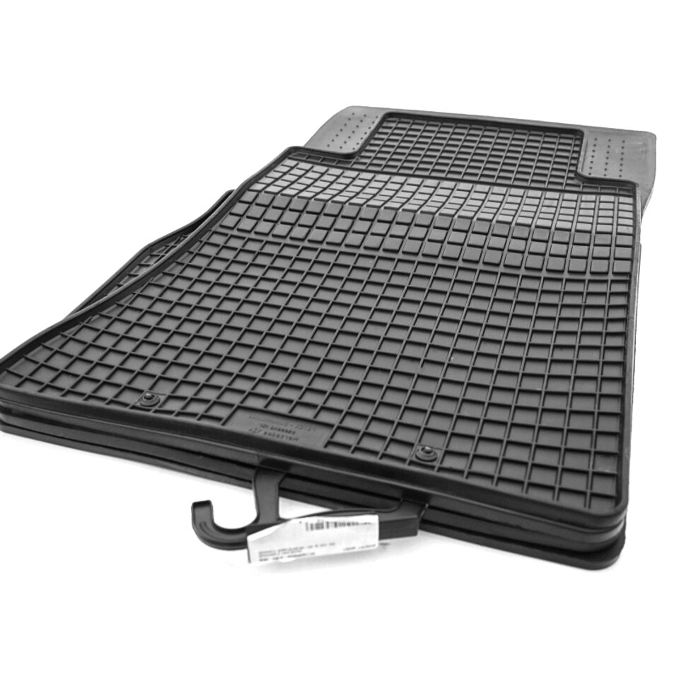 Fußmatten SCHWARZ NEU Gummi Gummimatten für Mercedes E-Klasse C124 W124 Coupe