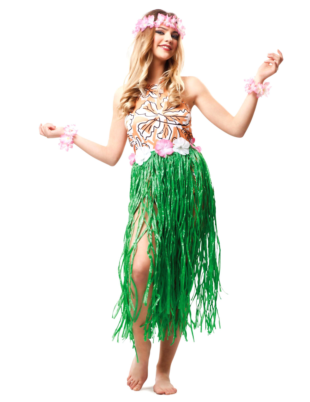 Hawaikette Kostüm unisex Hawaiparty Fasching neu Hawaikostüme Set bunter Rock