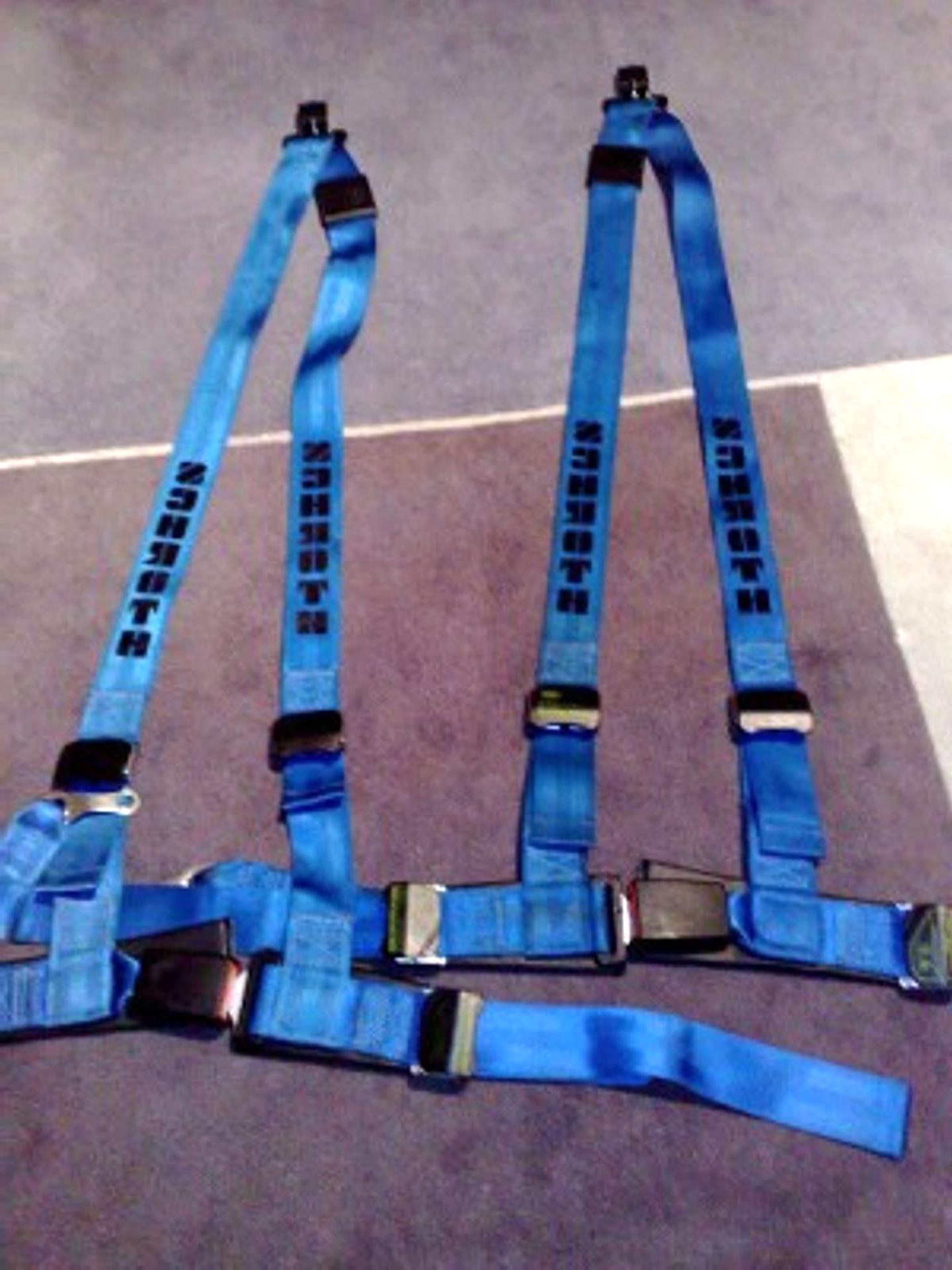 Schroth 1119 Gurtpolster Racing Blau//Gelb 50 mm