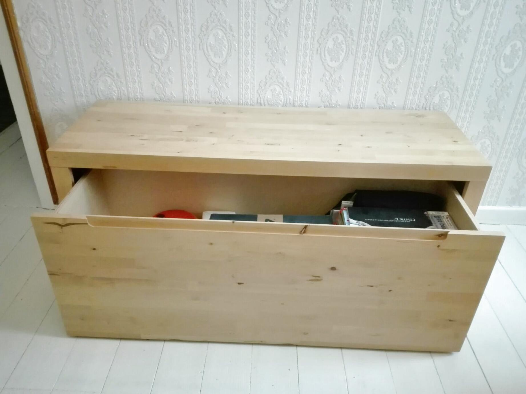 IKEA NORREBO HOLZREGAL mit großer SchubladeTruhe (Regal 1