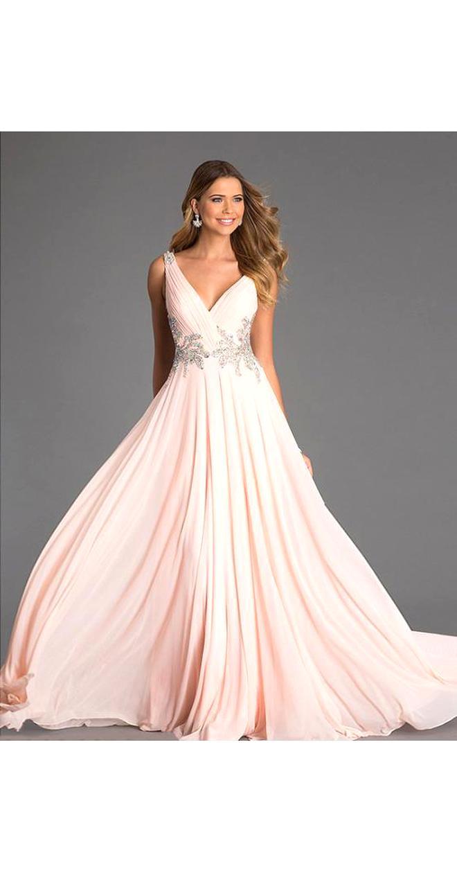 Sehr Schönes Abendkleid Ballkleid in dunkel Rosa