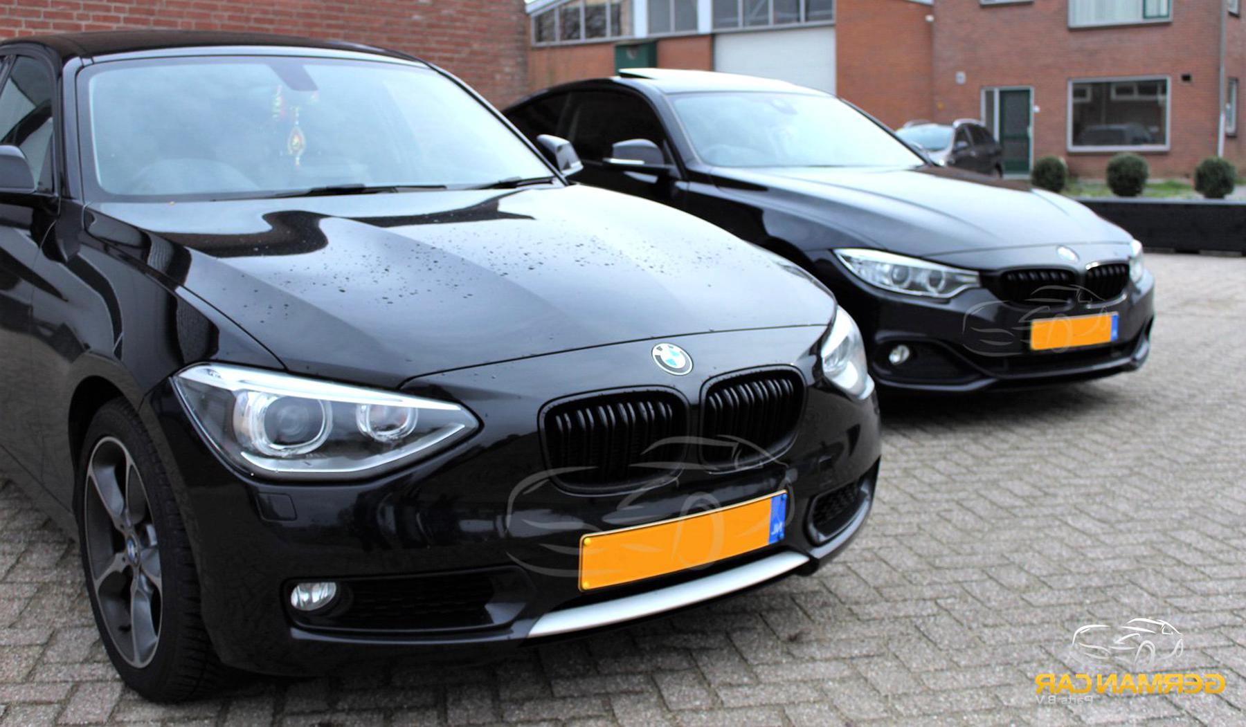 TOOGOO Heller Schwarzer Front Nieren Grill Grill F/ür BMW F20 F21 1 Serie 2011-2014