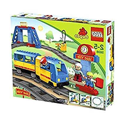 LEGO DUPLO VILLE EISENBAHN riesiger PERSONENWAGGON WAGGON BLAU GELB aus 5608 b