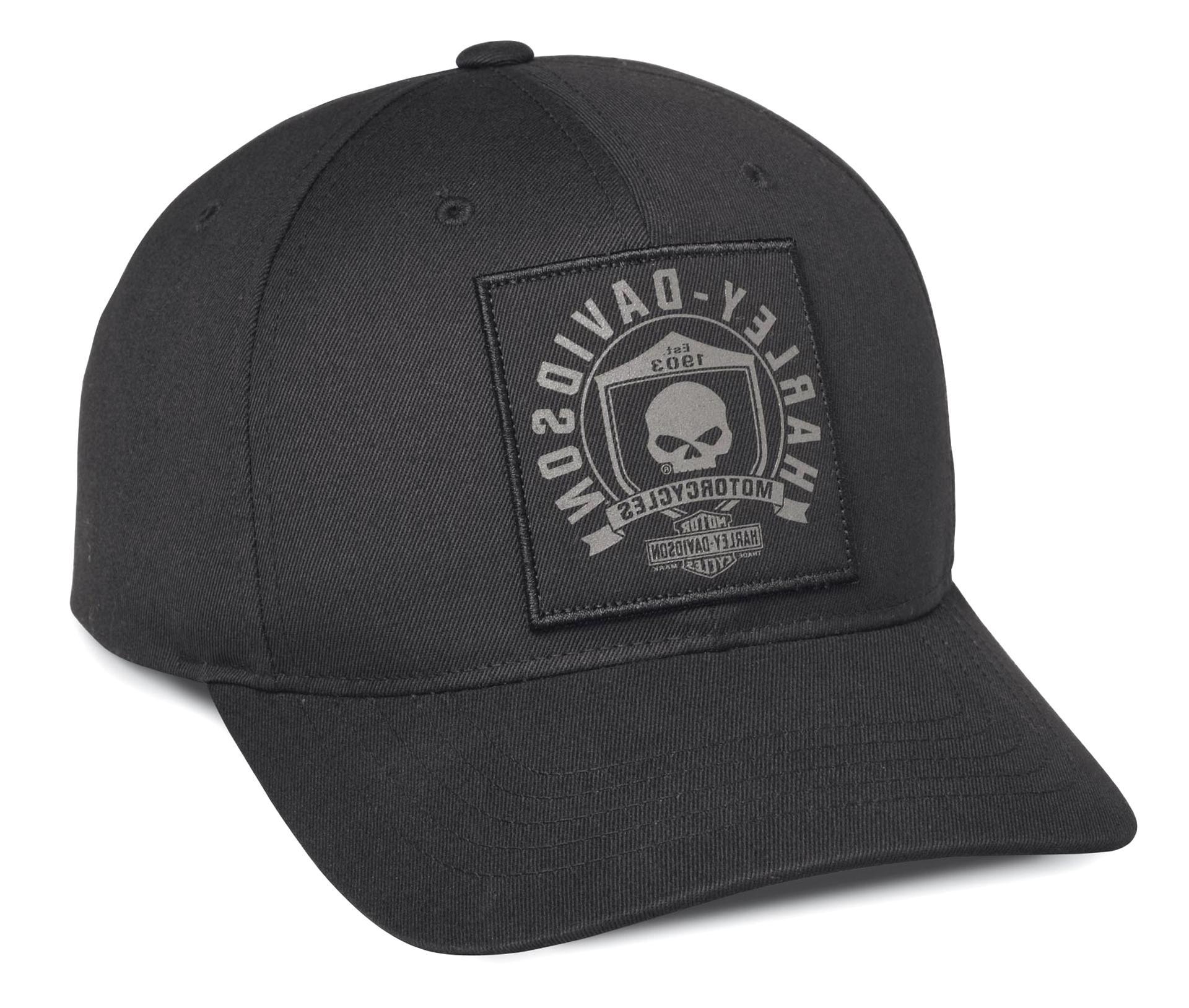 HD Cap Phantom schwarz Baseball Cap Schirmmütze Cappy Mütze Harley Davidson