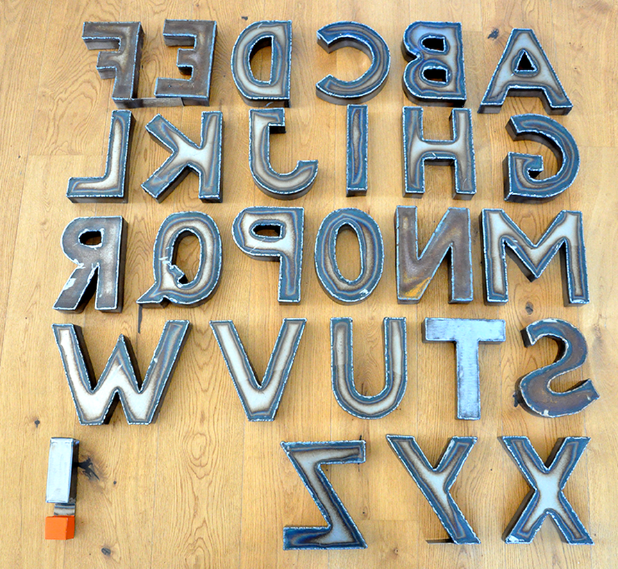 MagiDeal Gro/ße Metall Buchstaben Hausnummer Haus Zahlen Braun Gusseisen T