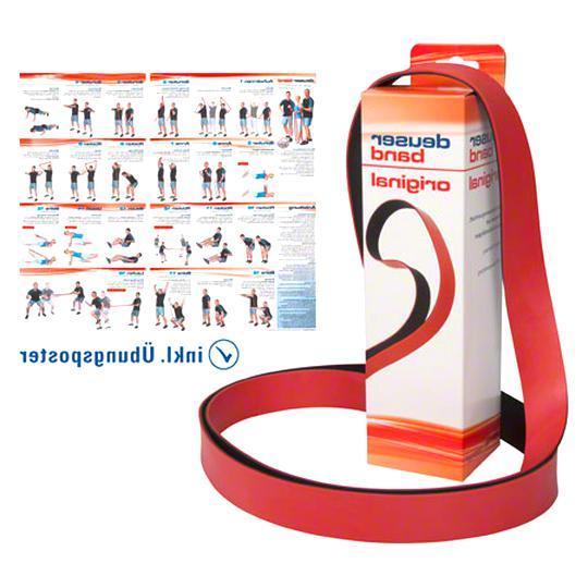 Deuser ® Exzellentes Fitnessband mit Übungsanleitung Original Deuserband