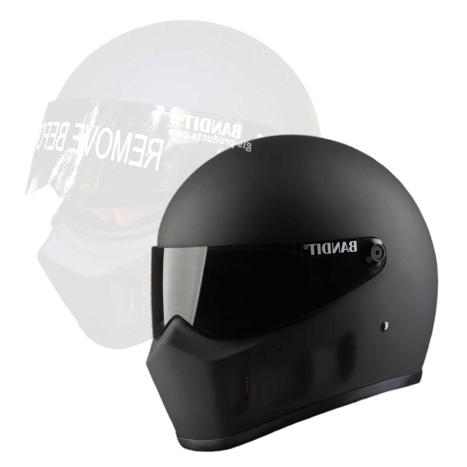 Motorrad-Helm Mit Schwarzem Visier Gr/ö/ße XL Exklusiver Marken-Helm Broken Head Hated and Proud 61-62 cm
