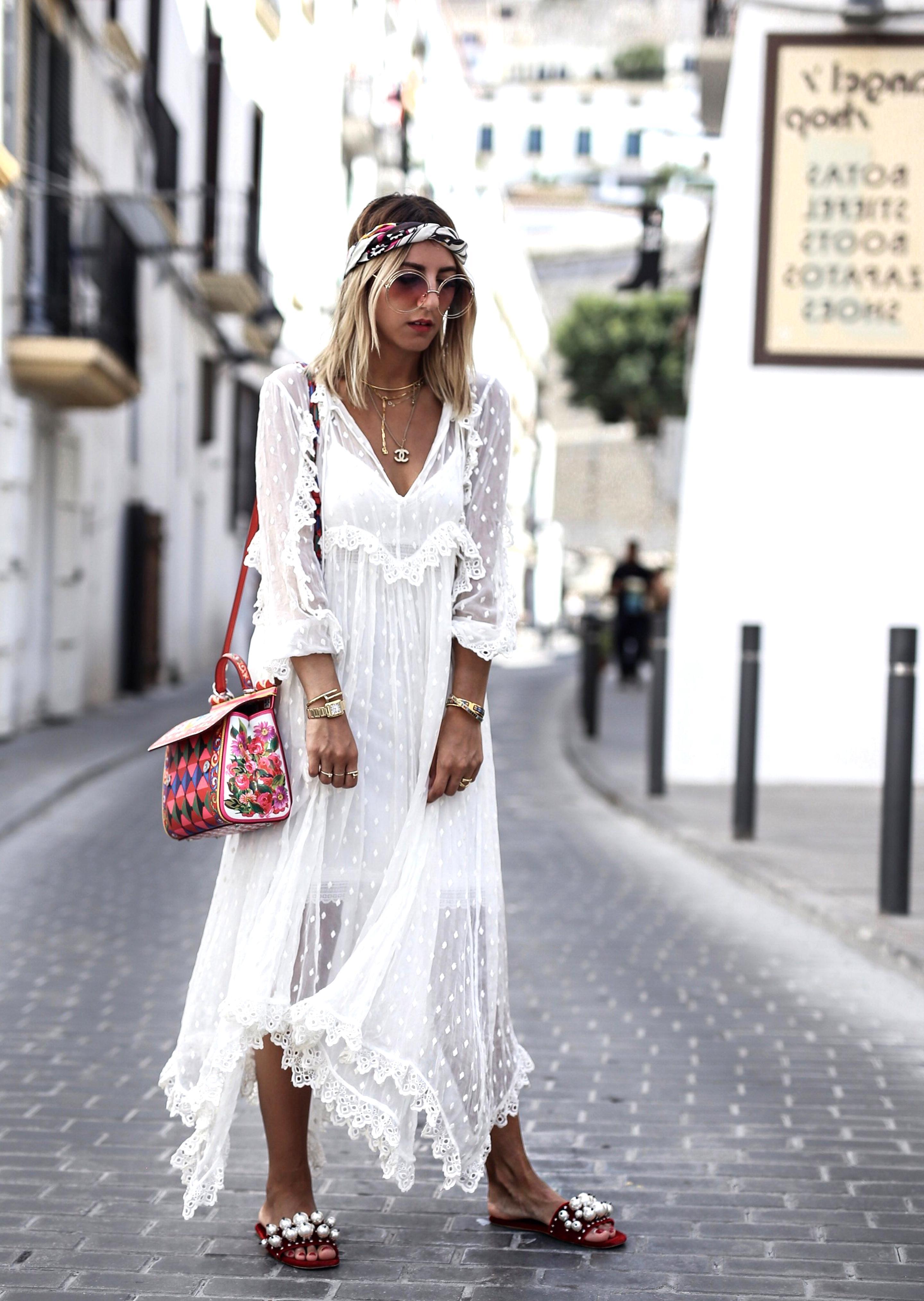 praznovati užitna evakuacija hippie kleid lang weiß