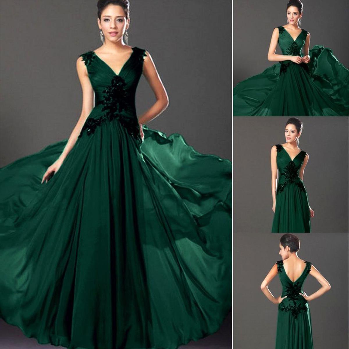 10° langes elegantes Abendkleid mit Schmucksteinen