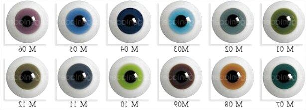 40 Stück Puppenwimpern für Puppe Große /& Schöne Augen 5 Verschiedene