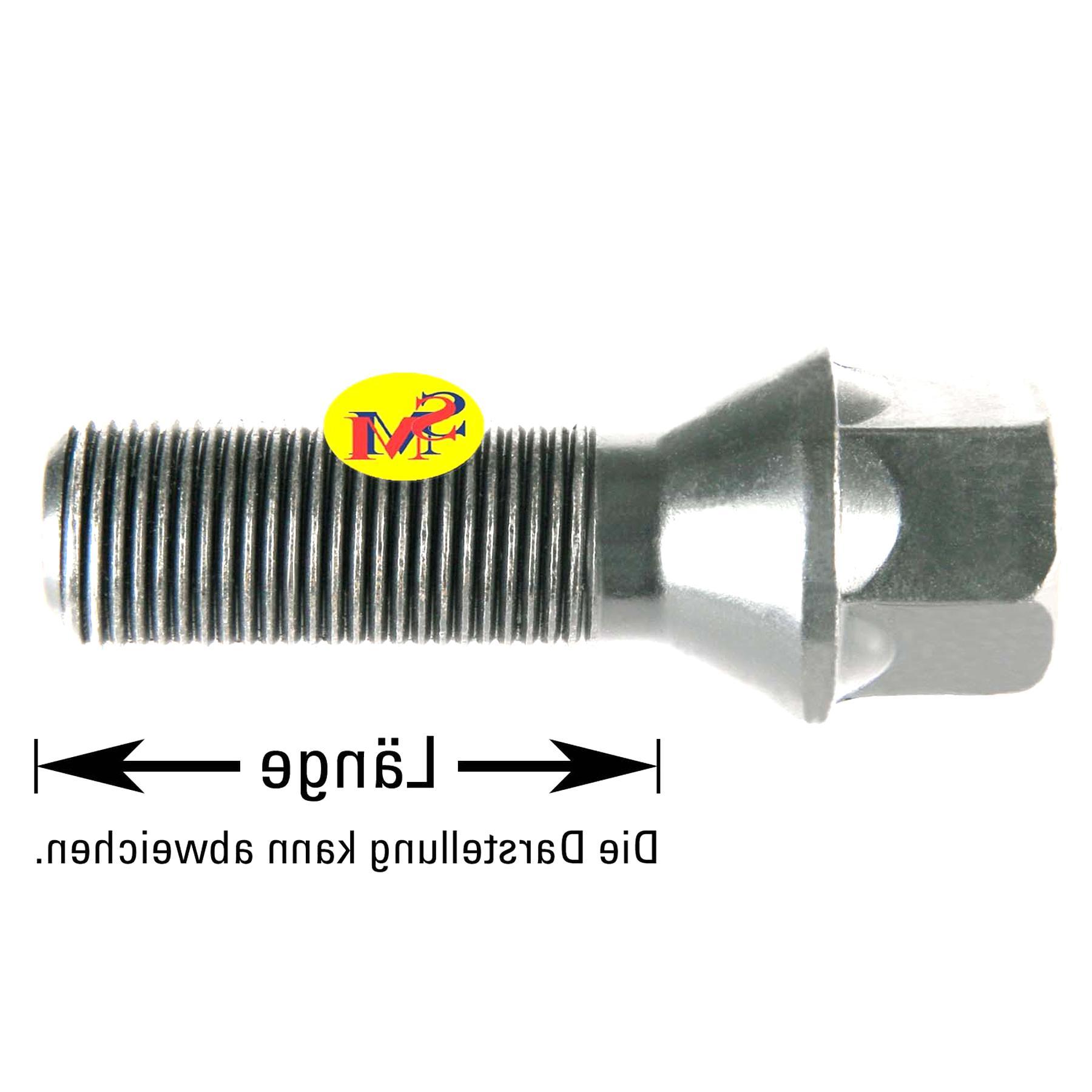 33mm Haskyy 10 Radschrauben Radbolzen Chrom Kegelbund Kegel M14x1,5 in verschiedenen Schaftl/ängen zur Auswahl