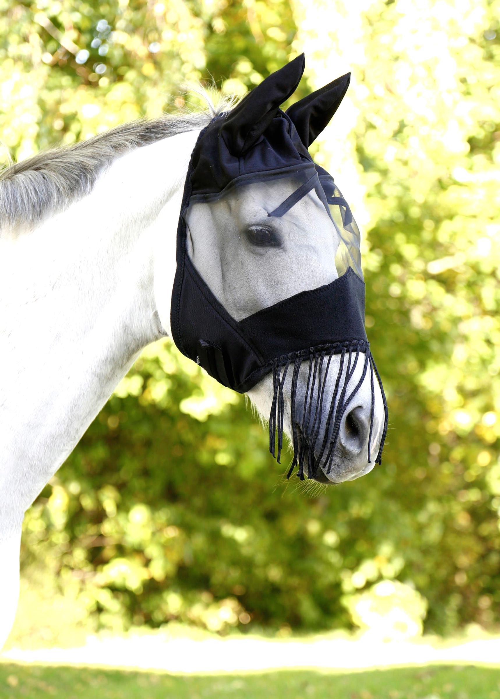 Fliegenhaube Fliegenschutz Fliegenmaske Schwarz