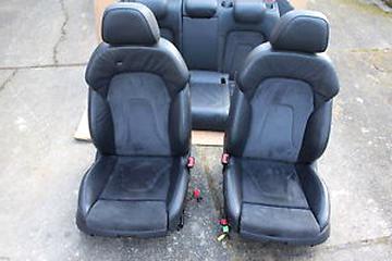 Audi A4 B8 08-15 Maßgefertigt Maß Sitzbezüge Kunstleder schwarz grau