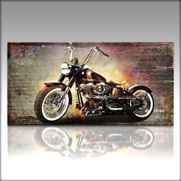 Harley Davidson Road King Motorrad Bild Leinwand Wandbild Garage Poster,Deko