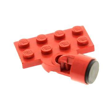 LEGO alte Eisenbahn 4,5 Volt Magnet Kupplung 2-Teilig blau und rot