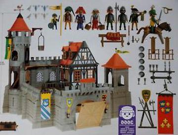 Playmobil Ritterburg Ersatzteil 4x Türriegel 3666 Burg Fachwerkhaus
