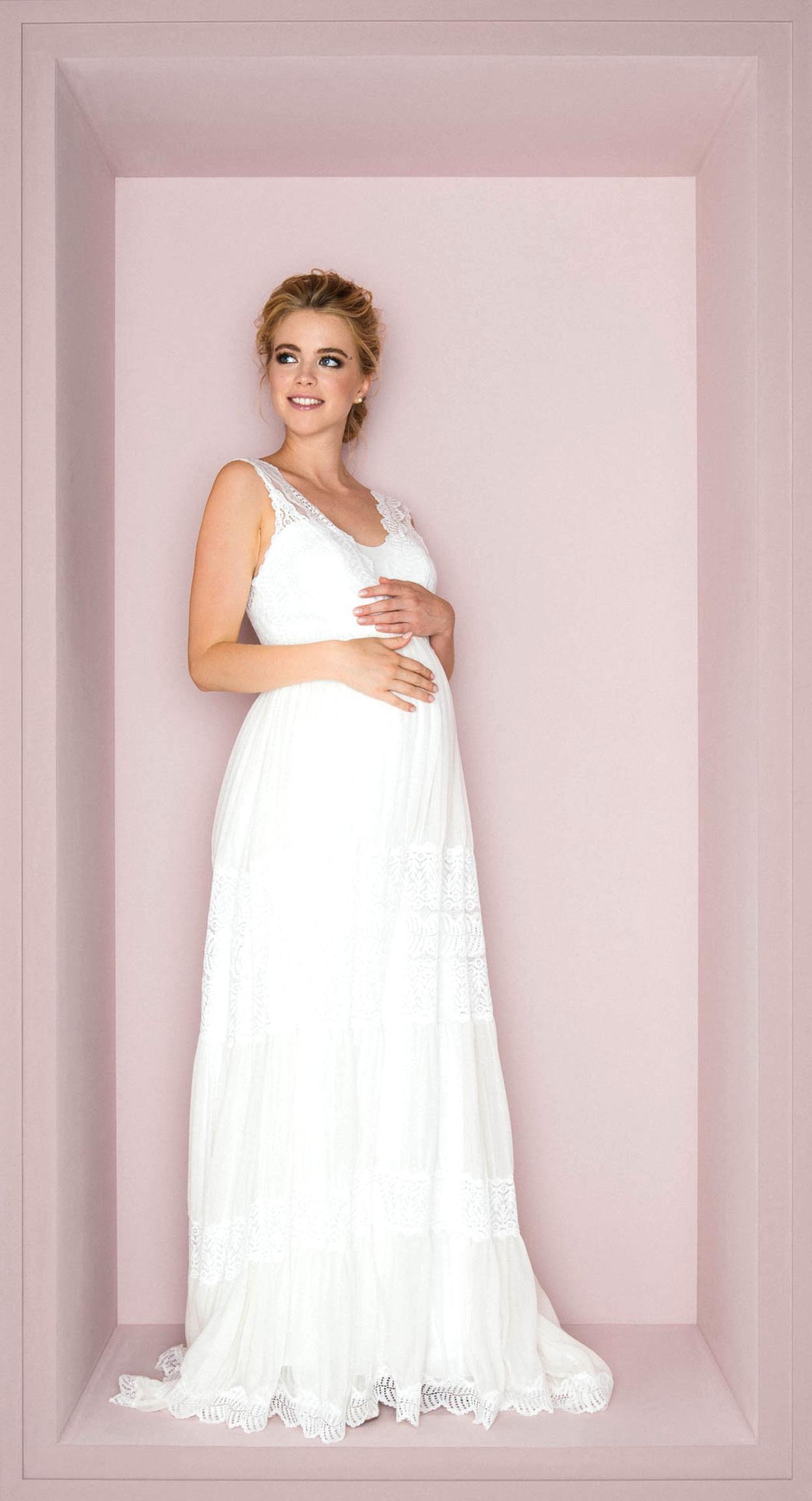 Schwangere Maxikleid Schwangerschafts Hochzeit Spi