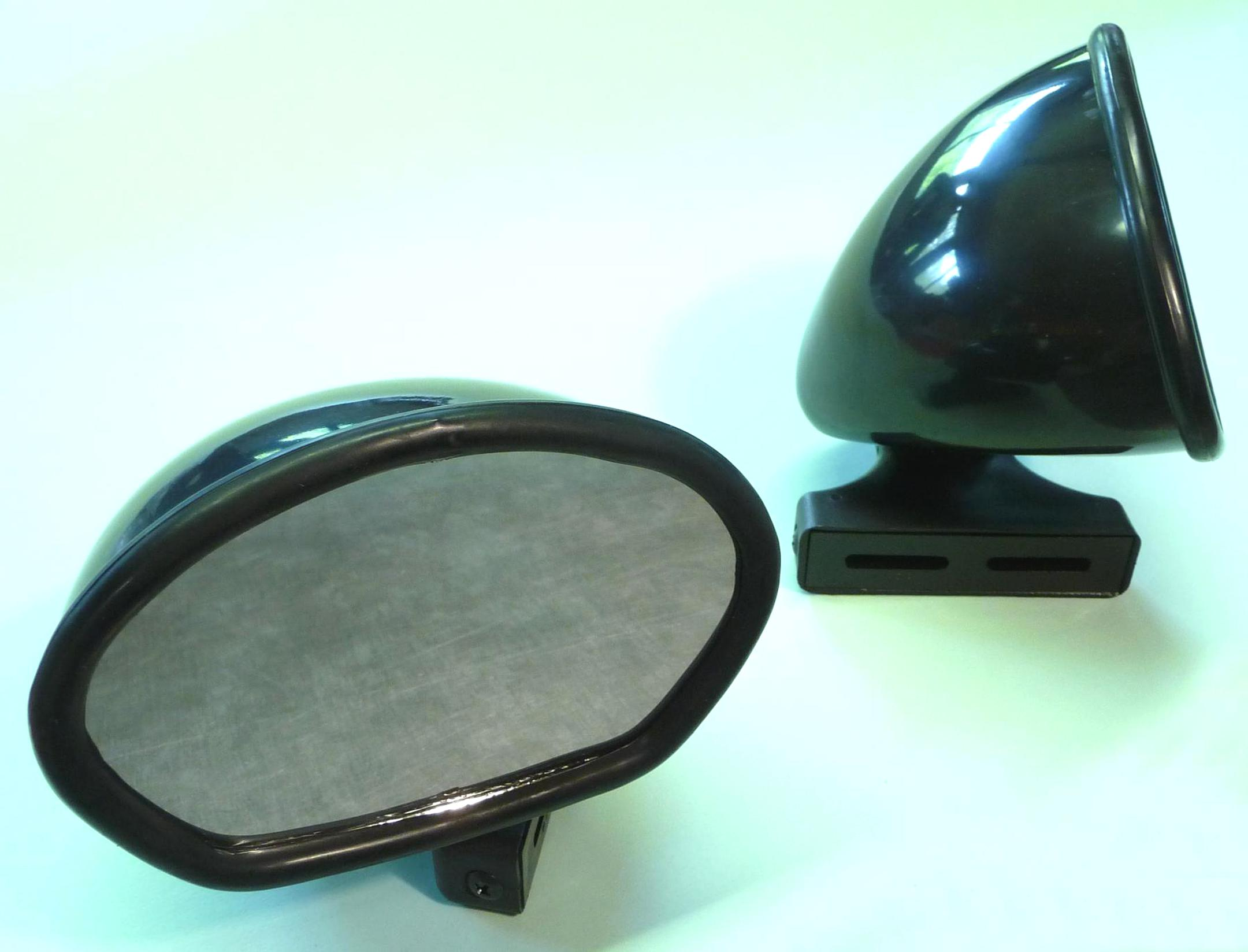 Ergotec Rückspiegel M-88 Spiegel universal oval schwarz