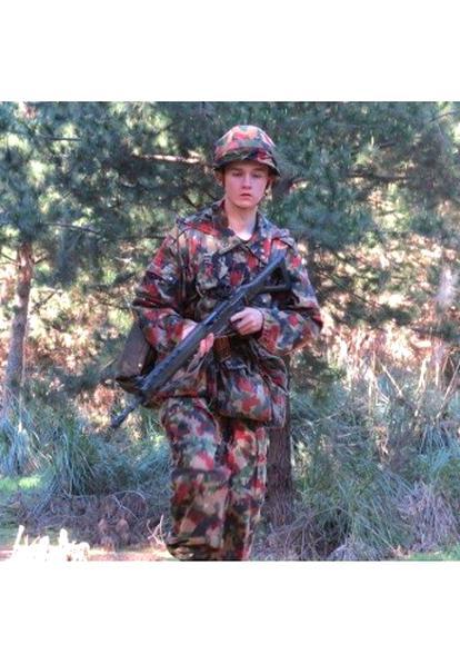 mit Kapuze Schweizer Armee Feldjacke Feldparka Jacke Parka Alpentarn M70 gebr