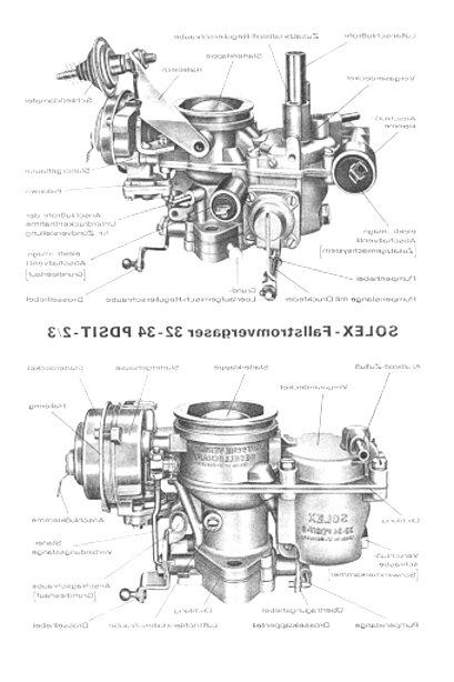 Vergaser-Reparatursatz Solex 32 PDSIT-1 für Ford Transit 17M