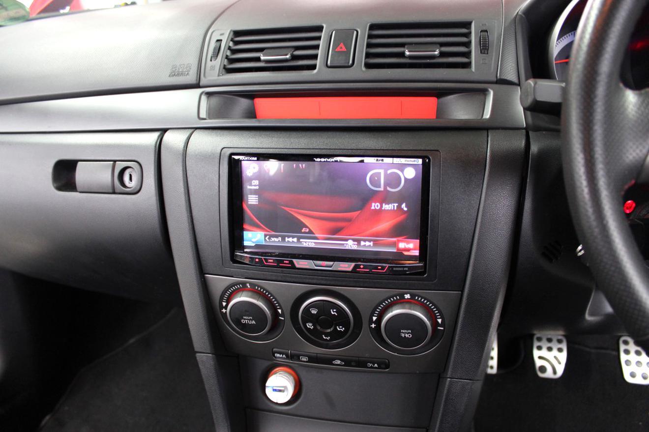 schwarz 2-DIN Radioblende Mazda 5