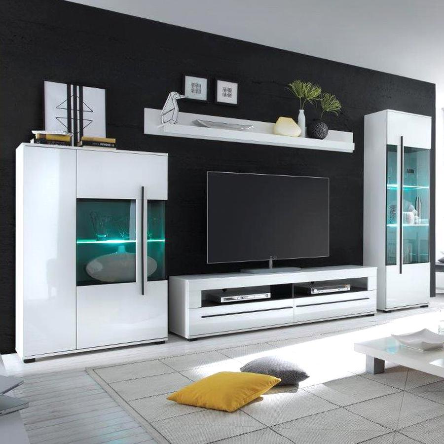 Wohnwand Weiß Hochglanz gebraucht kaufen! Nur 10 St. bis -10% günstiger
